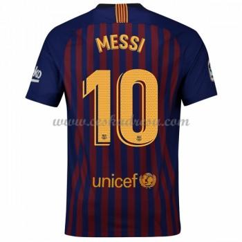 Fotbalové dresy levně Barcelona Lionel Messi 10 domáci dres 2018-19