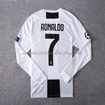 Fotbalové dresy levně Juventus Cristiano Ronaldo 7 domáci dres dlouhým rukávem 2018-19