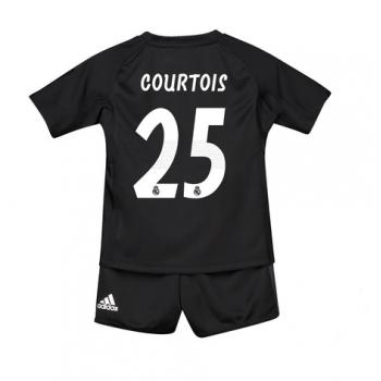 Dětský fotbalový dres Real Madrid Thibaut Courtois 25 Brankářské domáci dresy 2018-19